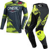 Oneal Mayhem 2021 Covert Motocross Jersey & Pants Anthracite Neon Yellow Kit Thumbnail 2