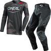 Oneal Mayhem 2021 Covert Motocross Jersey & Pants Anthracite Grey Kit Thumbnail 1