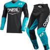 Oneal Mayhem 2021 Hexx Motocross Jersey & Pants Black Teal Kit Thumbnail 2