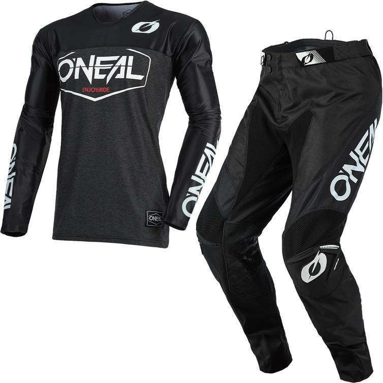Oneal Mayhem 2021 Hexx Motocross Jersey & Pants Black Kit