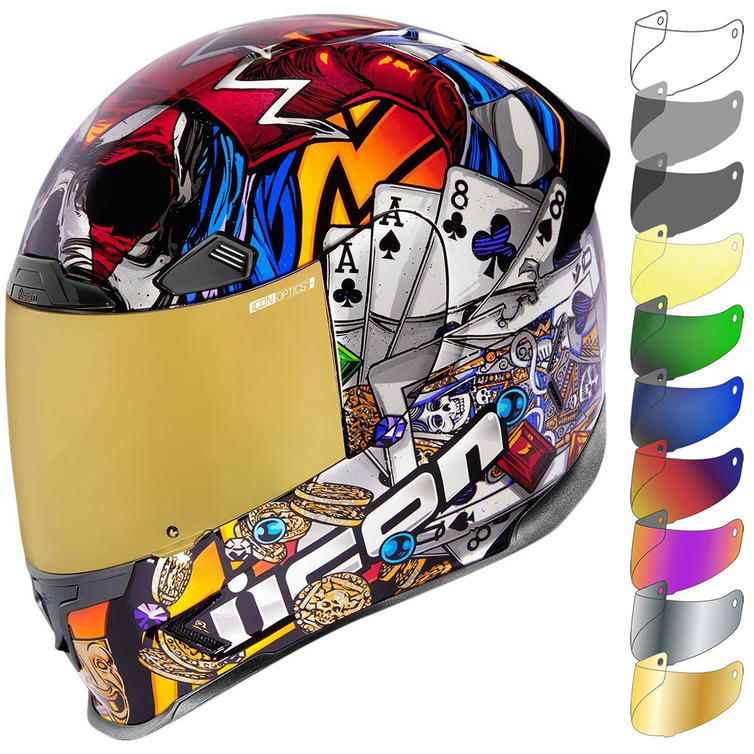 Icon Airframe Pro LuckyLid3 Motorcycle Helmet & Visor