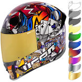 Icon Airframe Pro LuckyLid3 Motorcycle Helmet & Visor