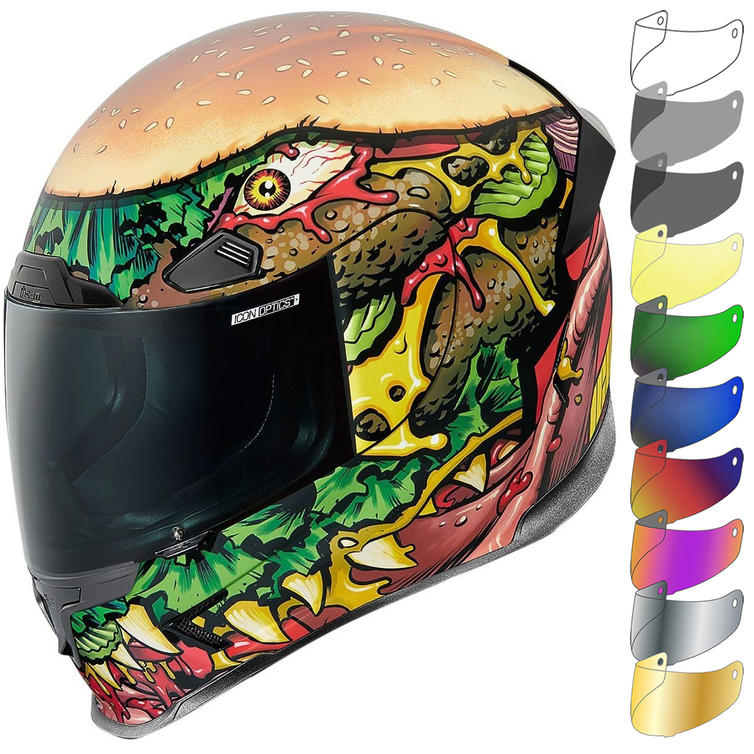 Icon Airframe Pro FastFood Motorcycle Helmet & Visor