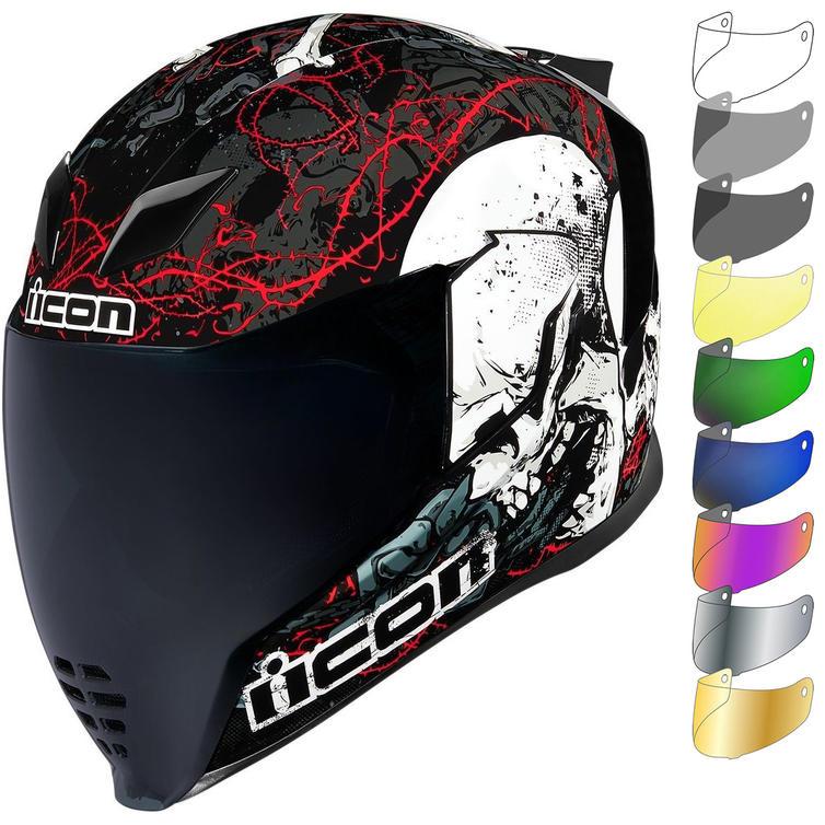 Icon Airflite Skull 18 Motorcycle Helmet & Visor