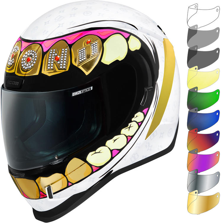 Icon Airform Grillz Motorcycle Helmet & Visor