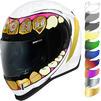 Icon Airform Grillz Motorcycle Helmet & Visor Thumbnail 1