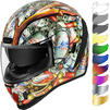Icon Airform Buck Fever Motorcycle Helmet & Visor Thumbnail 2