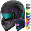 Icon Airform Chantilly Opal Motorcycle Helmet & Visor Thumbnail 2