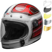 Bell Bullitt DLX Barracuda Motorcycle Helmet & Visor