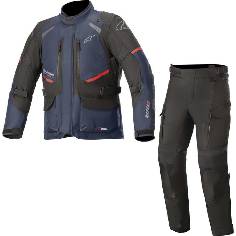 Alpinestars Andes DryStar v3 Motorcycle Jacket & Trousers Dark BlueBlack/Black Kit
