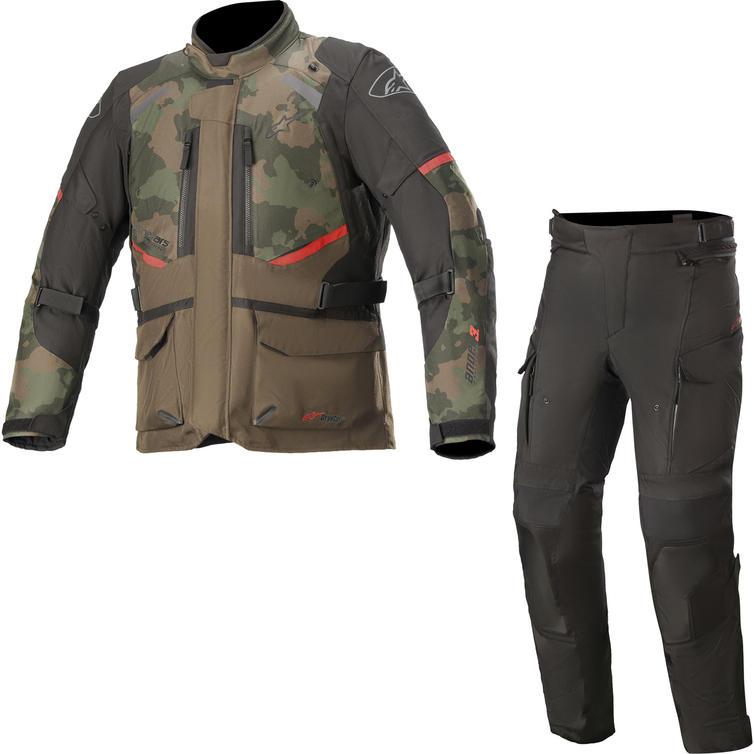 Alpinestars Andes DryStar v3 Motorcycle Jacket & Trousers Dark Khaki Camo/Black Kit
