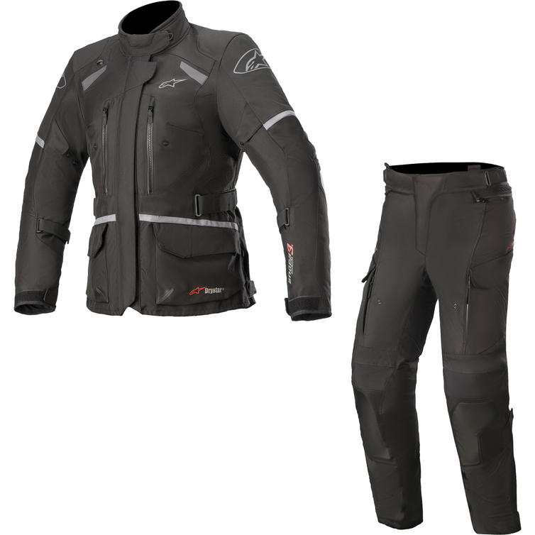 Alpinestars Andes DryStar v3 Motorcycle Jacket & Trousers Ice Grey Dark Grey Kit