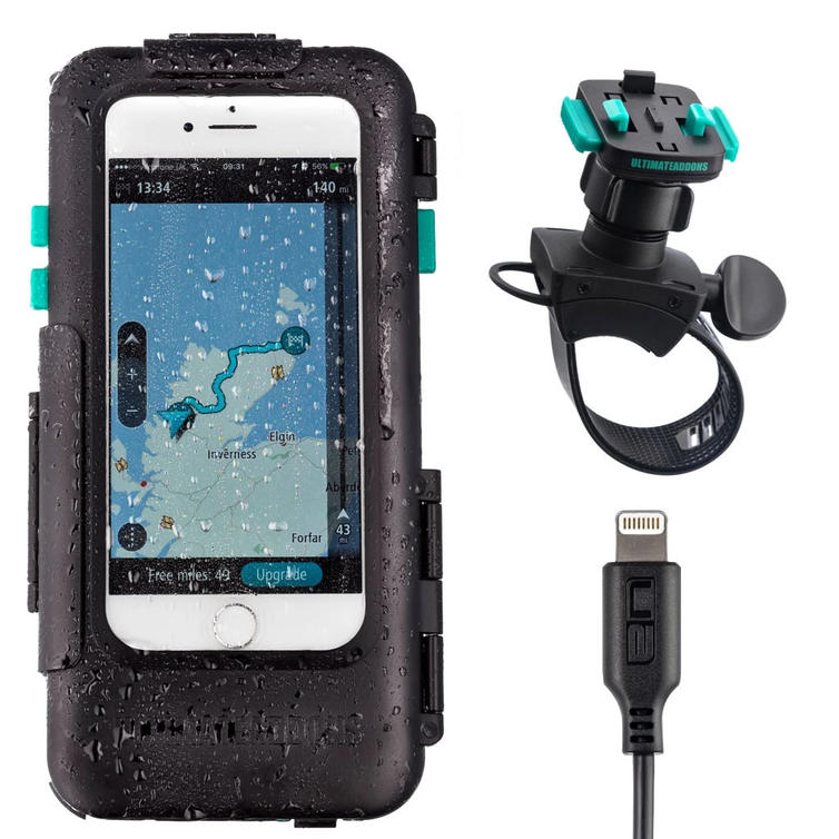Ultimateaddons One Box Waterproof Tough Case and Mount Kit for Apple iPhone 6 6S 7 8 - 4.7""