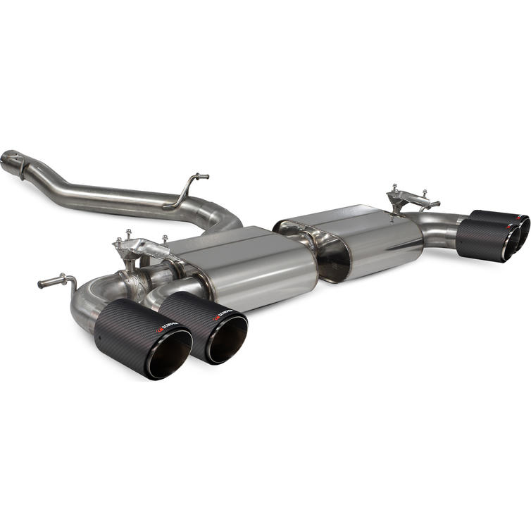 Scorpion Exhaust Cat-Back/GPF-Back System (Non-Resonated) Carbon Ascari - VW Golf R MK7.5 Facelift 17-20