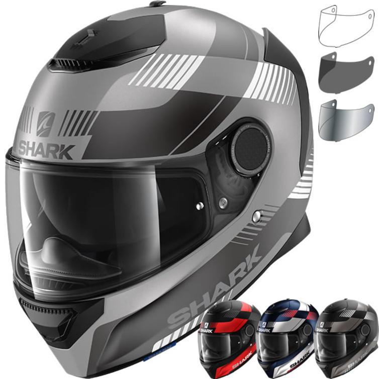 Shark Spartan 1.2 Strad Mat Motorcycle Helmet & Visor