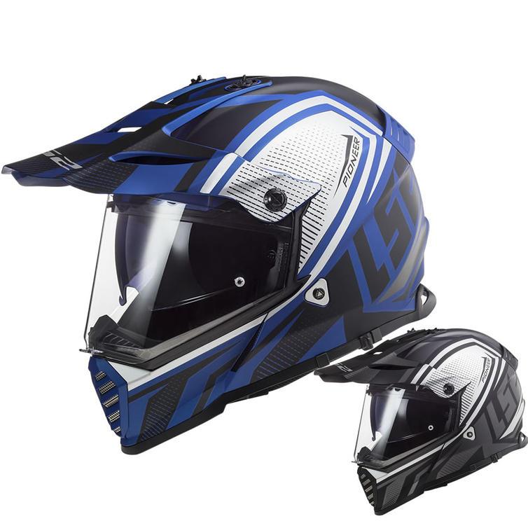 LS2 MX436 Pioneer Evo Master Dual Sport Motorcycle Helmet