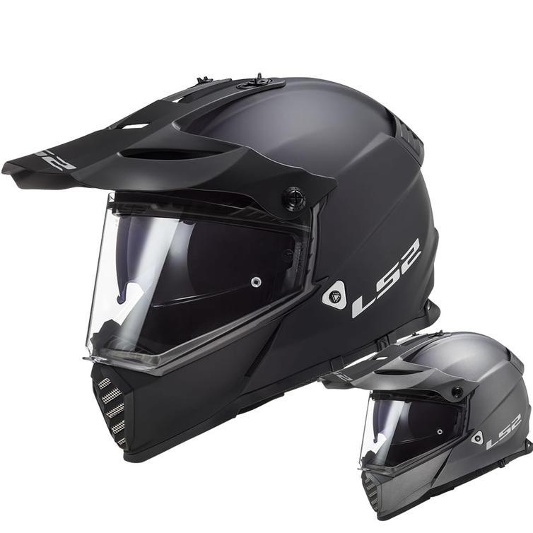 LS2 MX436 Pioneer Evo Solid Dual Sport Motorcycle Helmet