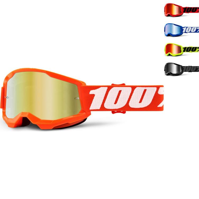 100% Strata 2 Mirror Youth Motocross Goggles
