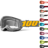 100% Strata 2 Clear Motocross Goggles