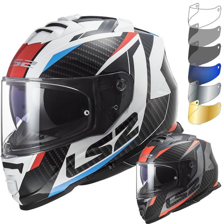 LS2 FF800 Storm Racer Motorcycle Helmet & Visor
