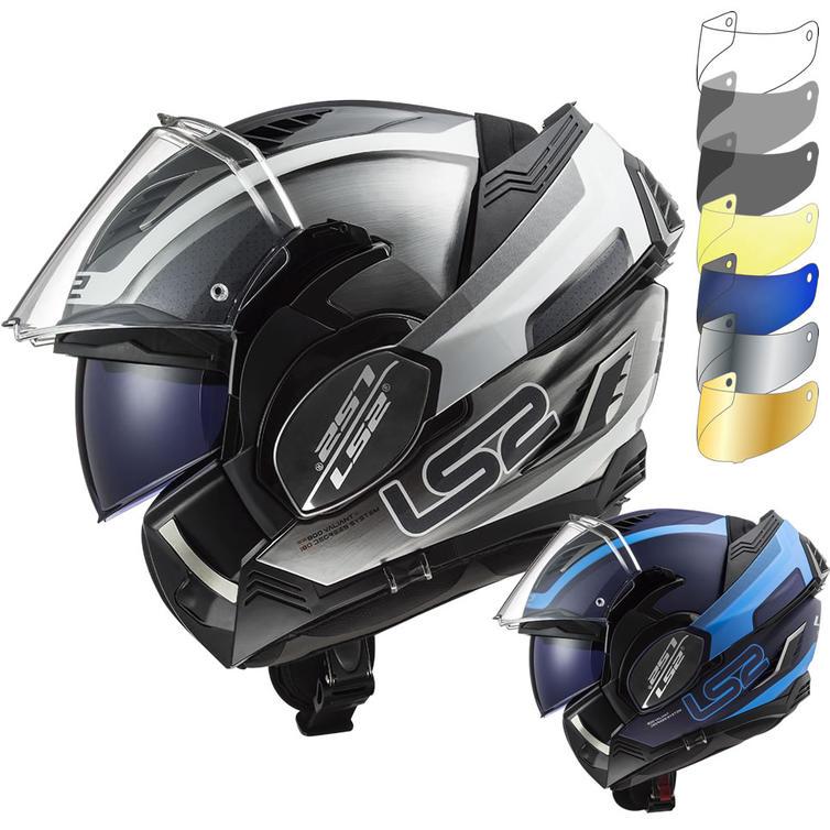 LS2 FF900 Valiant 2 Orbit Flip Front Motorcycle Helmet & Visor