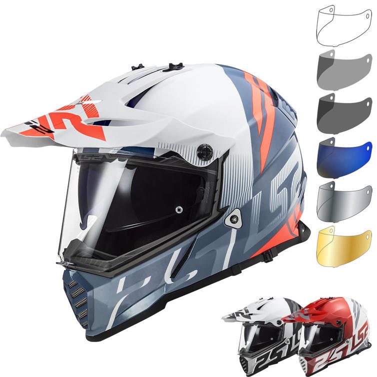 LS2 MX436 Pioneer Evo Evolve Dual Sport Motorcycle Helmet & Visor