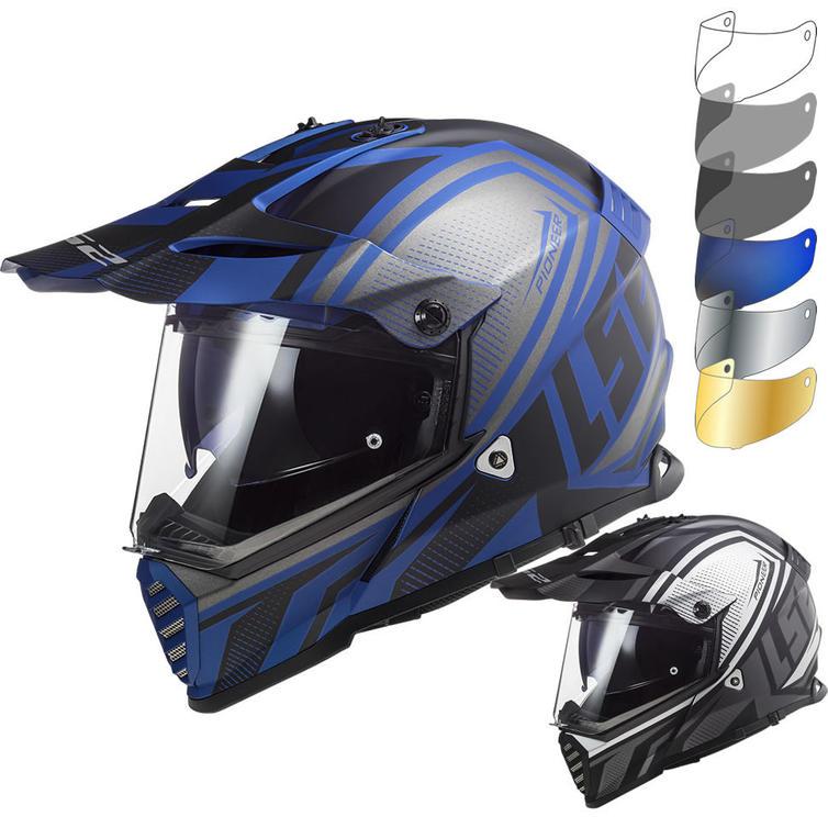 LS2 MX436 Pioneer Evo Master Dual Sport Motorcycle Helmet & Visor