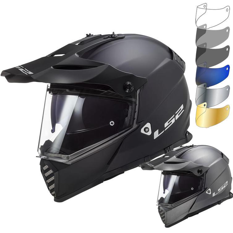 LS2 MX436 Pioneer Evo Solid Dual Sport Motorcycle Helmet & Visor