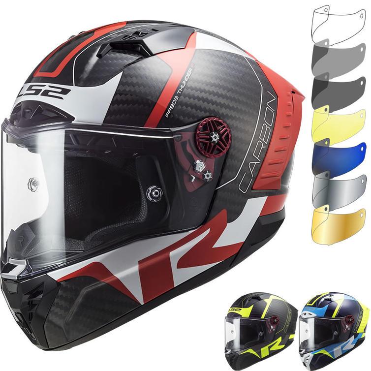 LS2 FF805 Thunder C Racing 1 Motorcycle Helmet & Visor