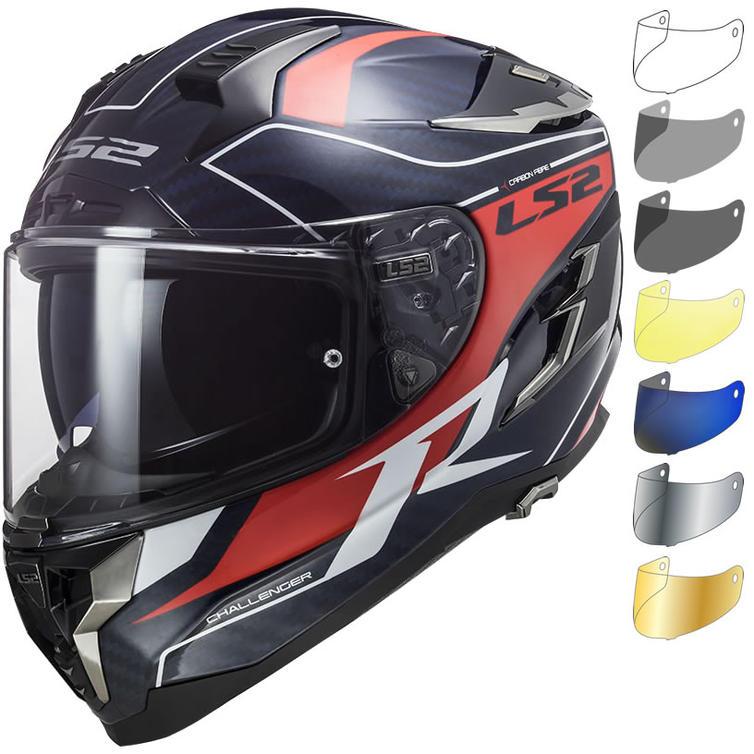 LS2 FF327 Challenger C Grid Motorcycle Helmet & Visor