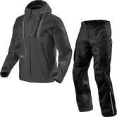 Rev It Element Jacket & Element H2O Trousers Off-Road Black Kit