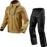 Rev It Element Jacket & Element H2O Trousers Off-Road Ocher Yellow Black Kit