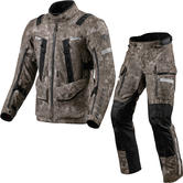 Rev It Sand 4 H2O Motorcycle Jacket & Trousers Camo Brown Kit