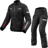 Rev It Sand 4 H2O Ladies Motorcycle Jacket & Trousers Black Kit