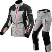 Rev It Sand 4 H2O Ladies Motorcycle Jacket & Trousers Silver Black Kit