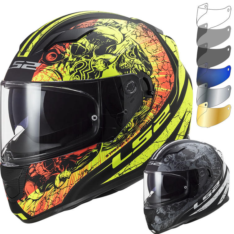 LS2 FF320 Stream Evo Throne Motorcycle Helmet & Visor