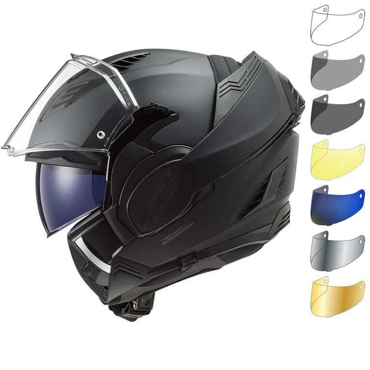 LS2 FF900 Valiant 2 Noir Flip Front Motorcycle Helmet & Visor