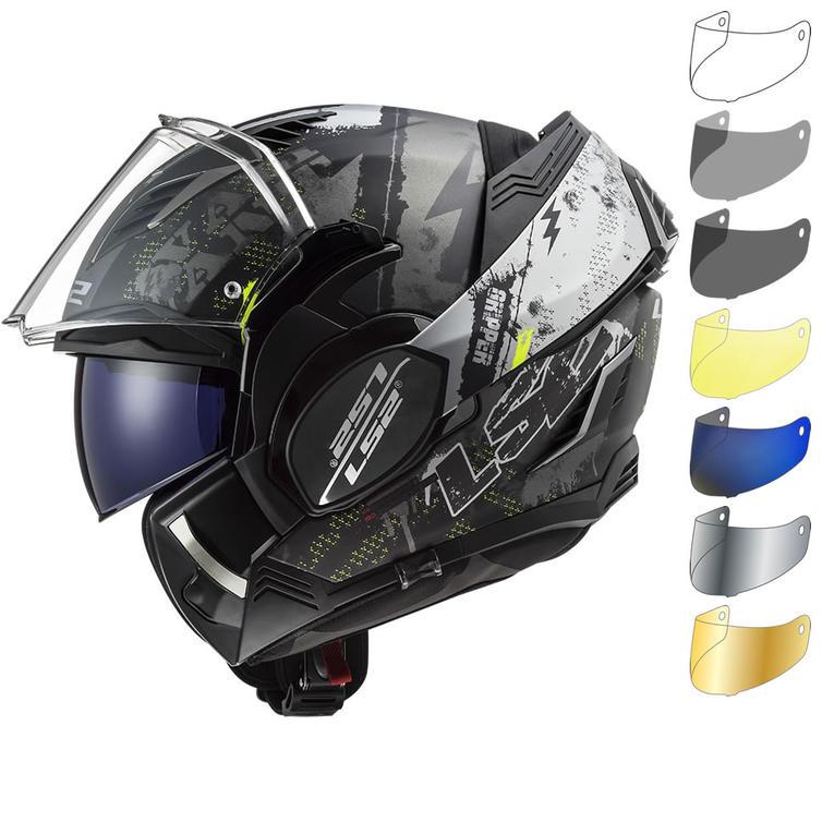 LS2 FF900 Valiant 2 Gripper Flip Front Motorcycle Helmet & Visor