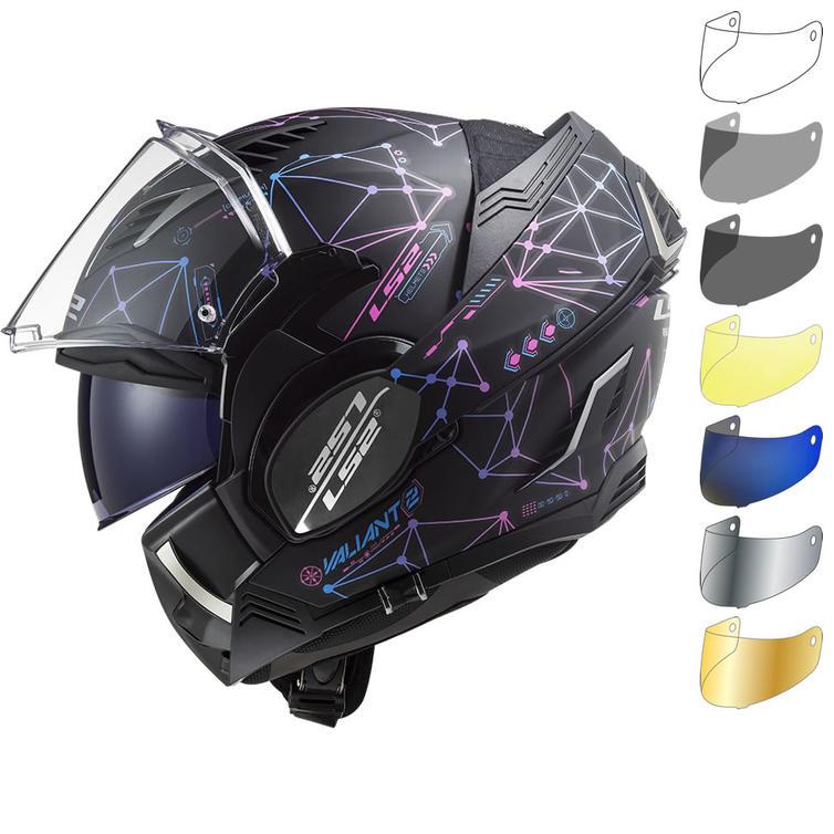 LS2 FF900 Valiant 2 Stellar Flip Front Motorcycle Helmet & Visor