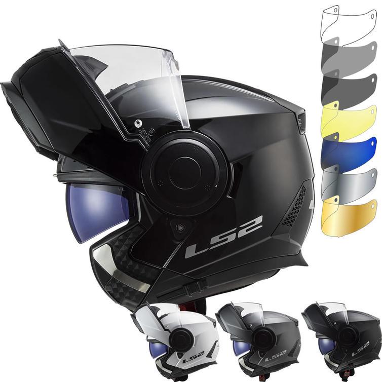 LS2 FF902 Scope Solid Flip Front Motorcycle Helmet & Visor