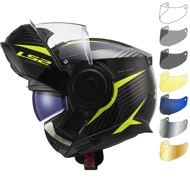 LS2 FF902 Scope Skid Flip Front Motorcycle Helmet & Visor