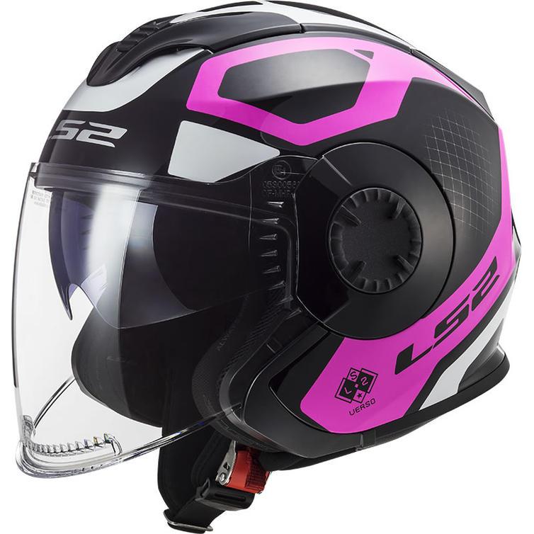 LS2 OF570 Verso Marker Open Face Motorcycle Helmet