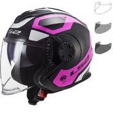 LS2 OF570 Verso Marker Open Face Motorcycle Helmet & Visor