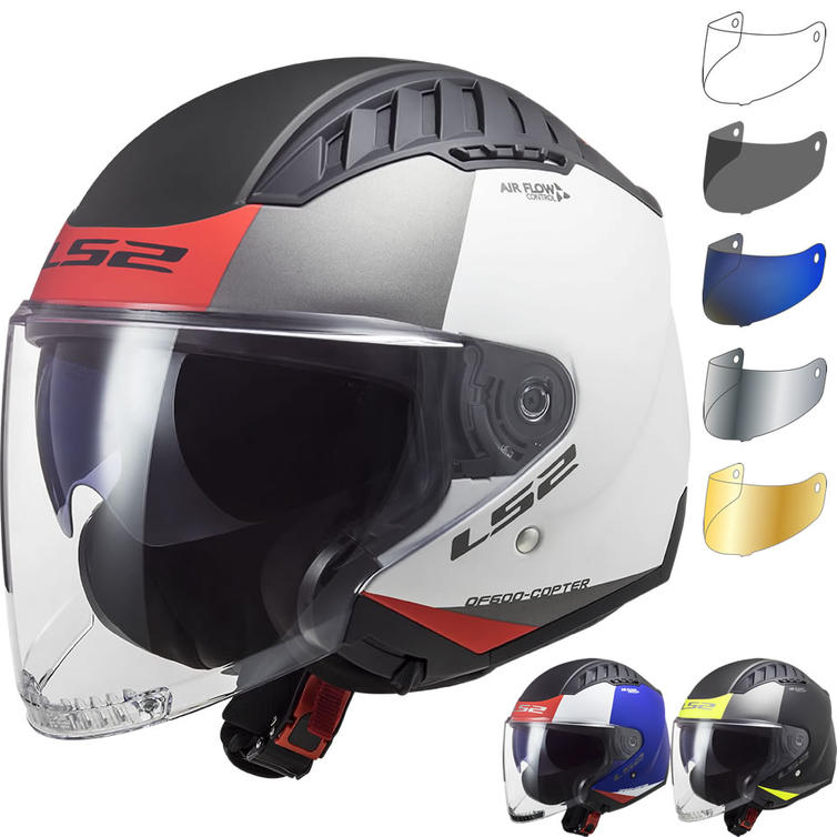 LS2 OF600 Copter Urbane Open Face Motorcycle Helmet & Visor