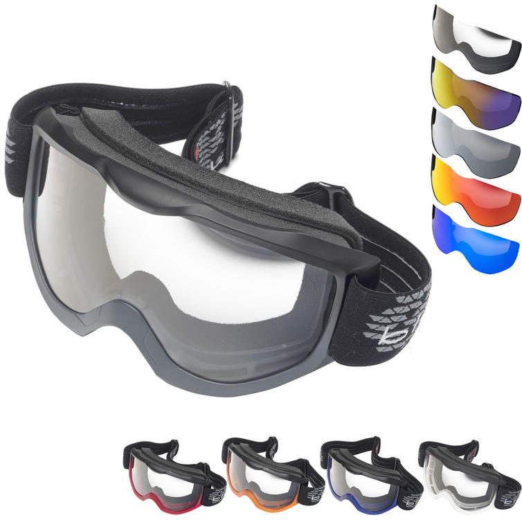 Black Granite Motocross Goggles & Lens