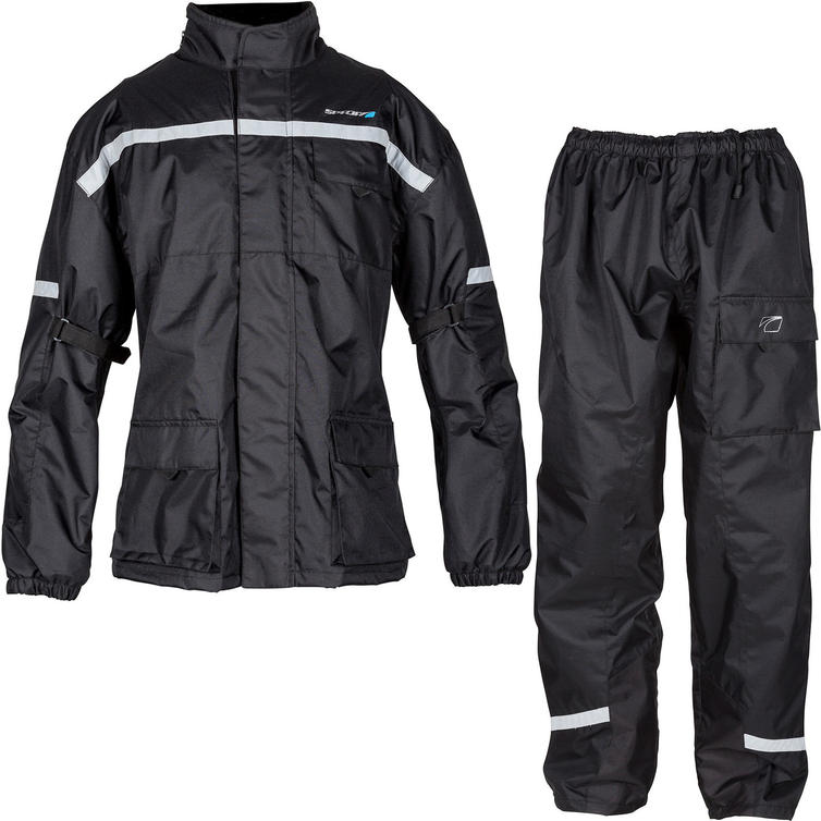 Spada Aqua Quilt Motorcycle Jacket & Trousers Black Kit