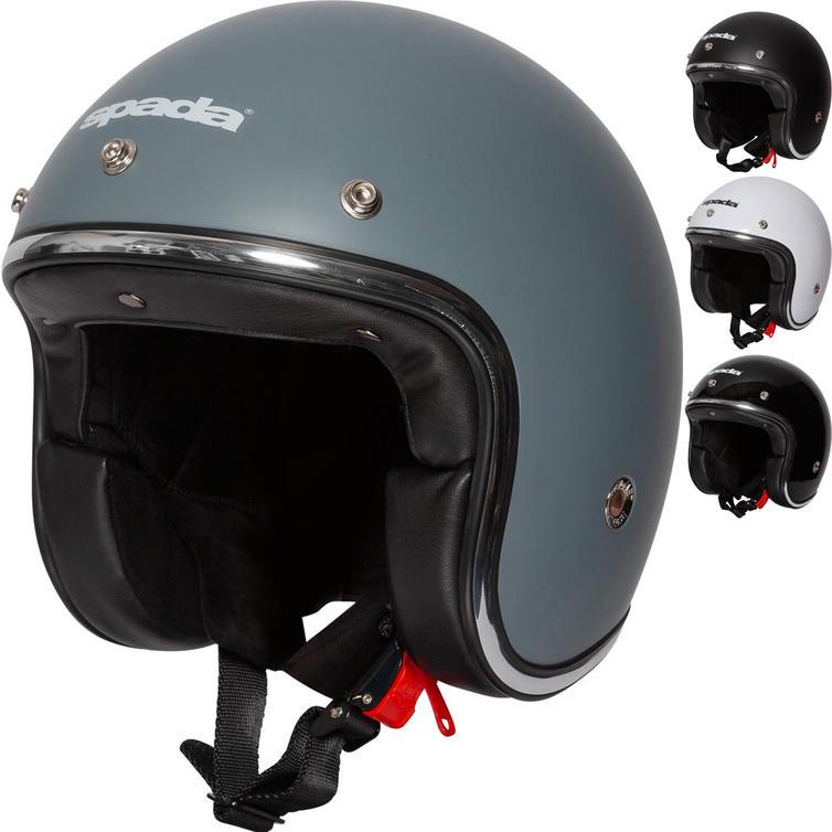 Spada Classic Plain Open Face Motorcycle Helmet