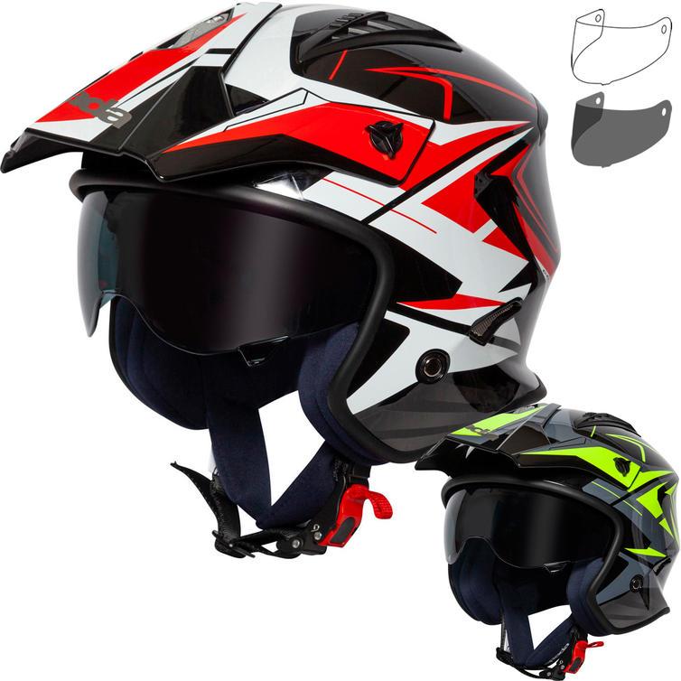 Spada Rock Stream Open Face Motorcycle Helmet & Visor