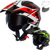 Spada Rock Stream Open Face Motorcycle Helmet & Visor Thumbnail 2