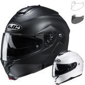HJC C91 Plain Flip Front Motorcycle Helmet & Visor